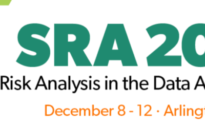 Presentations at the Society for Risk Analysis 2019
